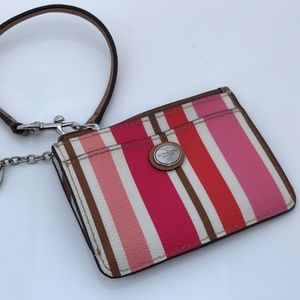 Coach Card Holder Keys Holder Mini Bag Wristlet